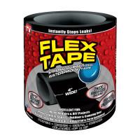 Flex Tape As Seen on TV 4 in. W x 5 ft. L Black Waterproof Repair Tape