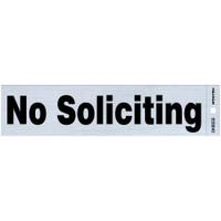 """Adhesive No Soliciting Sign (2"""" x 8"""")"""