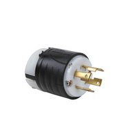 30 Amp NEMA L1630 Plug - Black Back, White Front Body
