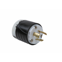 20 Amp NEMA Plug L620 - Black Back, White Front Body