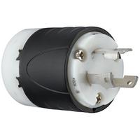 30 Amp NEMA L630 Plug - Black Back, White Front Body