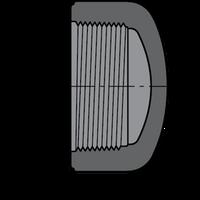 SCHEDULE 80 PVC CAP 1/2 F.P.T