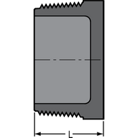 SCHEDULE 80 PVC THREADED PLUG 3/4