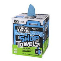 Shop Towels Center Pull Blue 200 Count