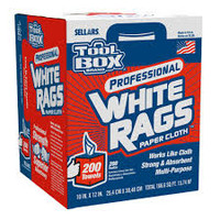 Rags Center Pull Box White 200 Count