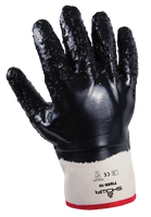 NITRILE-FULL COATED GLOVES WITH ROUGH CUFF 12/PACK
