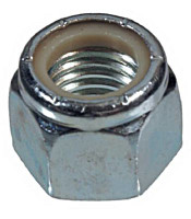 STOP NUTS ZINC PLATED  1/4-20    100/BX