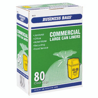 CAN LINER CLEAR 45-50 BOX OF 80