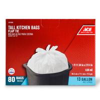ACE BAG 13 GALLON 80 COUNT FLAP