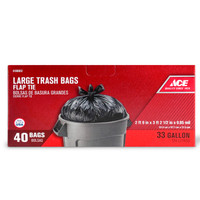 ACE BAG 33 GALLON 40 COUNT FLAP