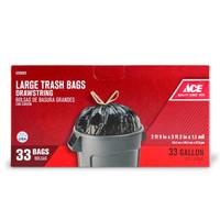 ACE 33 GALLON DRAWSTRING BAG 33 COUNT