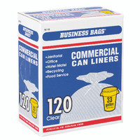CAN LINER CLEAR 33 GALLON box 120