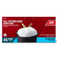 ACE BAG 13 GALLON 45 COUNT DRAWSTRING