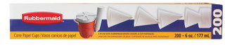 PAPER CUPS 6 OUNCE ROLLED LIP CONE CUPS 200 COUNT