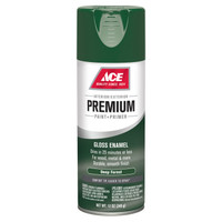 Ace Premium Gloss Deep Forest Paint and Primer Spray Paint 12 ounce