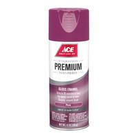 Ace Premium Gloss Plum Enamel Spray Paint 12 ounce