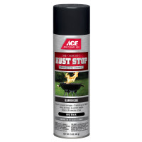 Ace Rust Stop Barbeque Black Spray Paint 15 ounce