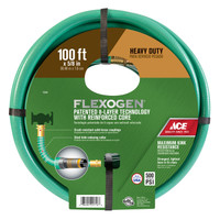 Ace Flexogen 5/8 in. Dia. x 100 ft. L Premium Grade Green Vinyl Hose