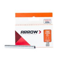 Arrow Fastener T25 1/4 in. W x 3/8 in. L 18 Ga. Round Crown Wire Staples 1100 pk