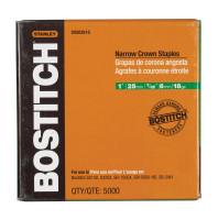 Bostitch 7/32 in. W x 1 in. L 18 Ga. Narrow Crown Staples 5000 pk