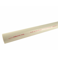 Charlotte Pipe Schedule 40 PVC Dual Rated Pipe 1-1/2 in. Dia. x 10 ft. L Plain End 330 psi