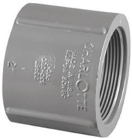 Charlotte Pipe Schedule 80 1/2 in. FPT x 1/2 in. Dia. FPT PVC Coupling