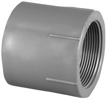 Charlotte Pipe Schedule 80 2 in. Slip x 2 in. Dia. FPT PVC Pipe Adapter