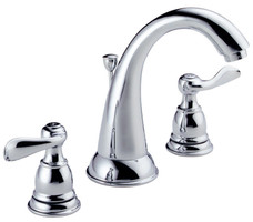 Delta Windemere Chrome Two Handle Lavatory Faucet 6-16 in.