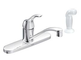 Moen Adler One Handle Chrome Kitchen Faucet Side Sprayer Included
