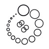 """Lex & Lu 2 Pair of Black Rubber O-Rings for Plugs and Stretchers 14-1"""" Gauge"""