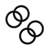 """Lex & Lu 2 Pair of Black Rubber O-Rings for Plugs and Stretchers 14-1"""" Gauge-2"""