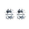 Lex & Lu Pair of Steel Barbell w/Nipple Shields Rings, 14 Gauge-101-Lex & Lu