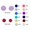 Lex & Lu Pair of Acrylic UV Sensitive Illusion Threaded Replacement Balls 16&14 Gauge-2-Lex & Lu