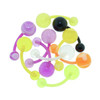 Lex & Lu Body Jewelry 10 Pack All Acrylic Navel Belly Rings