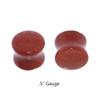 "Lex & Lu Pair of Double Flare Genuine Gold Stone Organic Ear Plugs 10G-1"" Gauge-4-Lex & Lu"