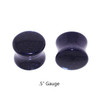 "Lex & Lu Pair of Double Flare Genuine Blue Gold Stone Organic Ear Plugs 10G-1"" Gauge-4-Lex & Lu"