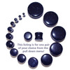 "Lex & Lu Pair of Double Flare Genuine Blue Gold Stone Organic Ear Plugs 10G-1"" Gauge-2-Lex & Lu"