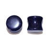 "Lex & Lu Pair of Double Flare Genuine Blue Gold Stone Organic Ear Plugs 10G-1"" Gauge-Lex & Lu"
