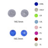 Lex & Lu Pair of Acrylic Heavy Glitter Threaded Replacement Balls 16&14 Gauge-Lex & Lu