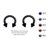 Lex & Lu Pair of Anodized Steel Circular Barbell Horseshoe Earrings 10-6G - BCINCZ-2-Lex & Lu