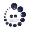 "Lex & Lu Pair of Genuine Sodalite Double Flare Stone Organic Ear Plugs 10G-1"" Gauge-2-Lex & Lu"