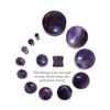 "Lex & Lu Pair of Double Flare Genuine Amethyst Stone Organic Ear Plugs 10G-1"" Gauge-2-Lex & Lu"