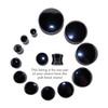 "Lex & Lu Pair of Double Flare Genuine Hematite Stone Organic Ear Plugs 6G-1"" Gauge-2-Lex & Lu"