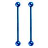 Lex & Lu Pair of Steel Straight Industrial Barbell Ear Body Piercing w/Balls 14G-5-Lex & Lu