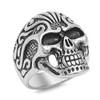 Lex & Lu Men's Fashion Stainless Steel Skull Biker Ring w/2 Black Eyes-2-Lex & Lu
