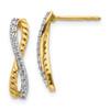 Lex & Lu 14k Two Tone Gold Diamond Fancy Earrings LAL967-Lex & Lu