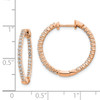 Lex & Lu 14k Rose Gold Polished Diamond In and Out Hinged Hoop Earrings LAL1843-2-Lex & Lu