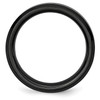 Lex & Lu Chisel Black Ceramic Beveled Edge 6mm Brushed and Polished Band Ring- 2 - Lex & Lu