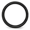 Lex & Lu Chisel Ceramic Black Faceted and Beveled Edge 6mm Polished Band Ring- 2 - Lex & Lu