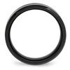 Lex & Lu Chisel Ceramic Black w/Green Carbon Fiber Beveled Edge Ring- 2 - Lex & Lu